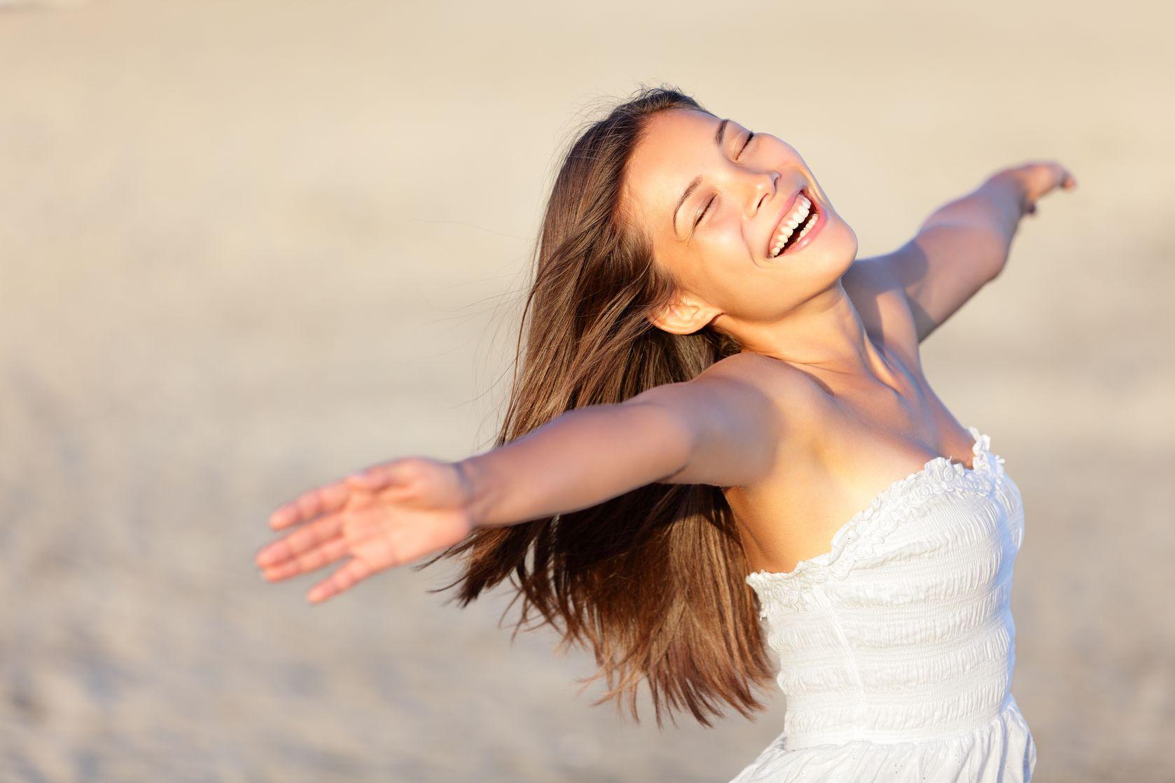 foto lachende vrouw